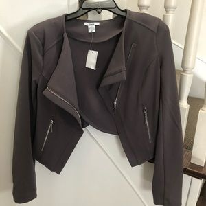New with tags! Sleek Grey Jacket.